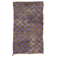 "Angora ""Tulu"" Rug in Purple and Green"