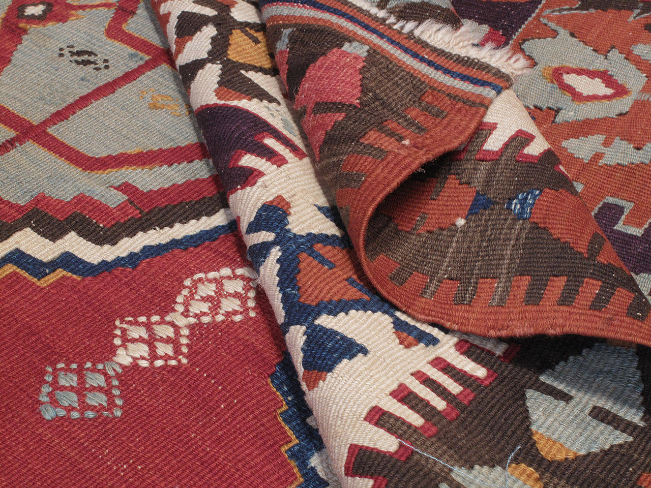 """Early 20th Century Antique Central Anatolian Kilim with """"Tulips"""" For Sale"""