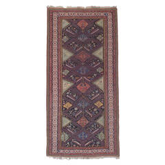 "Antique ""Peacocks"" Sumak Rug"