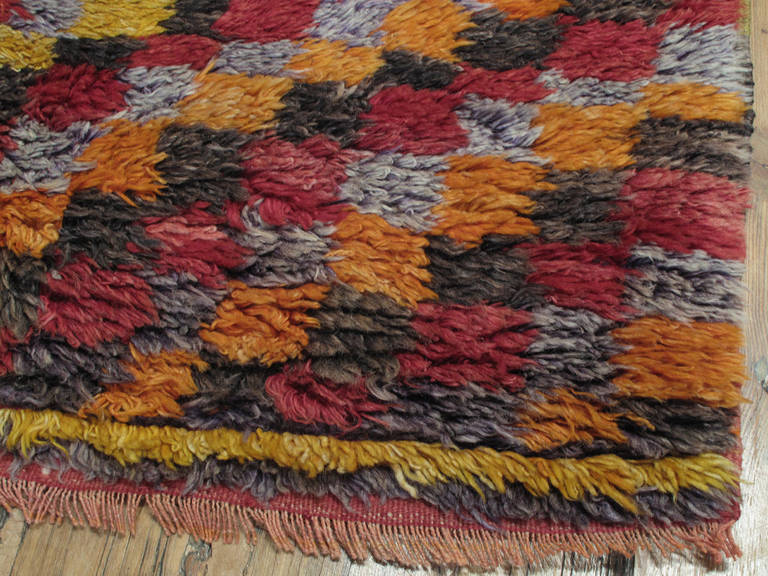 Wool Three-Diamond Tulu Rug For Sale