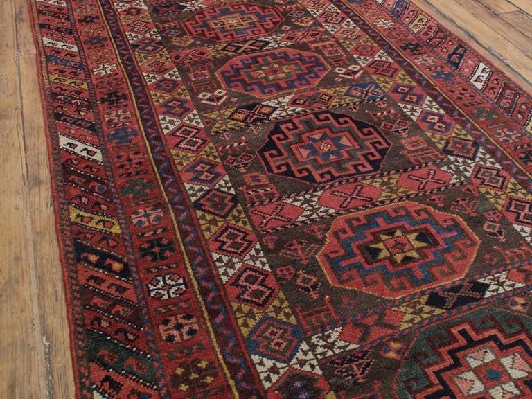 Tribal Antique Kurdish Long Rug For Sale