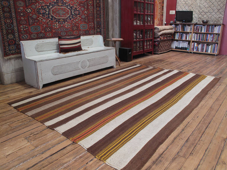 Urfa Kilim rug. An old tribal flat-weave rug from South Eastern Turkey, woven in