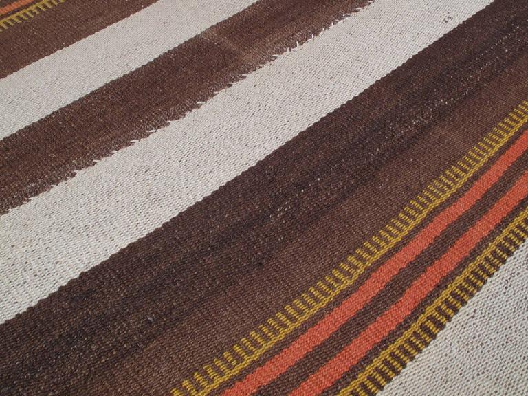 Hand-Woven Urfa Kilim Rug For Sale