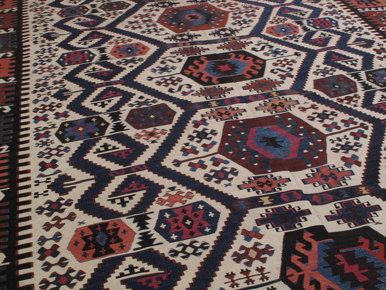 Turkish Antique Aydin Kilim For Sale