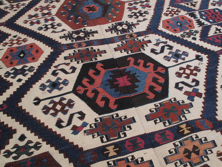 Antique Aydin Kilim In Good Condition For Sale In New York, NY