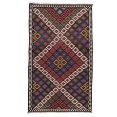 Antique Bakhtiari Kilim Rug