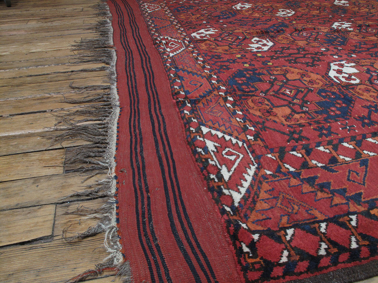 Antique Turkmen Main Carpet For Sale 1