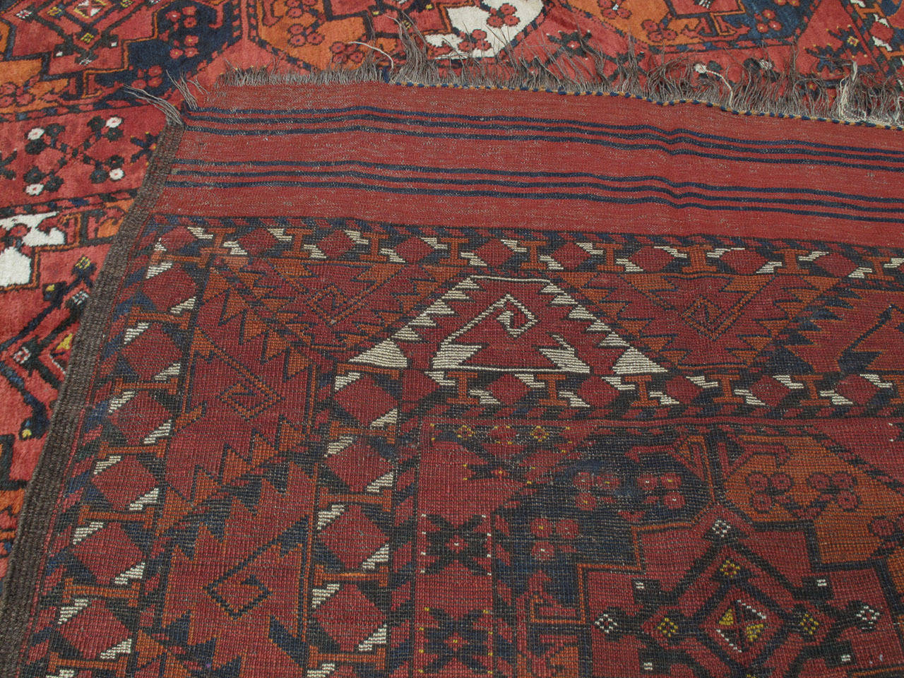 Antique Turkmen Main Carpet For Sale 3