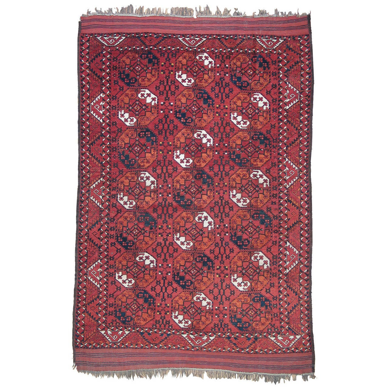 Antique Turkmen Main Carpet For Sale
