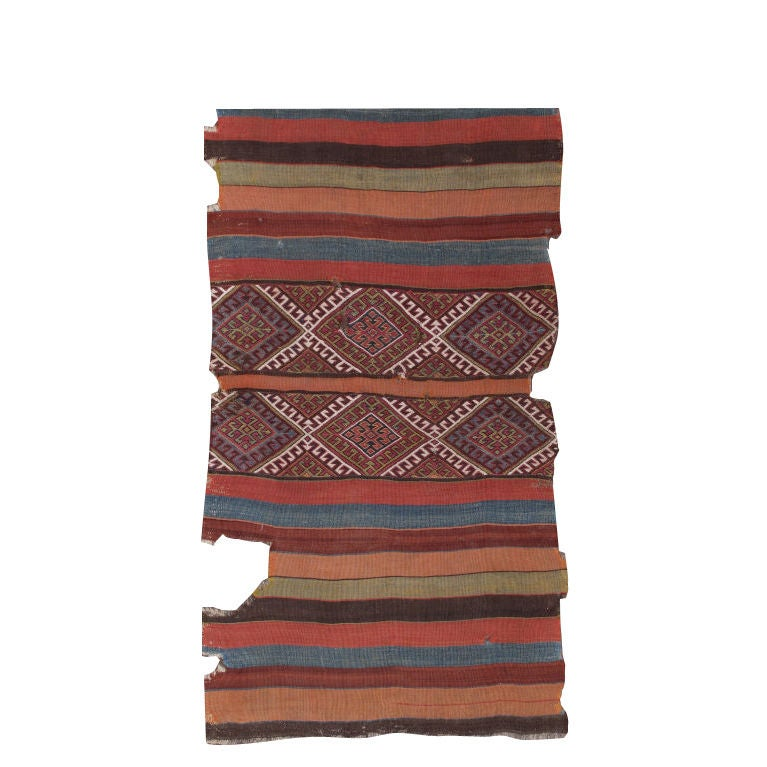 Antique Anatolian Kilim, Grain Sack Rug