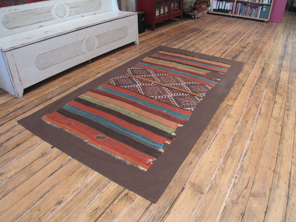 Turkish Antique Anatolian Kilim, Grain Sack For Sale