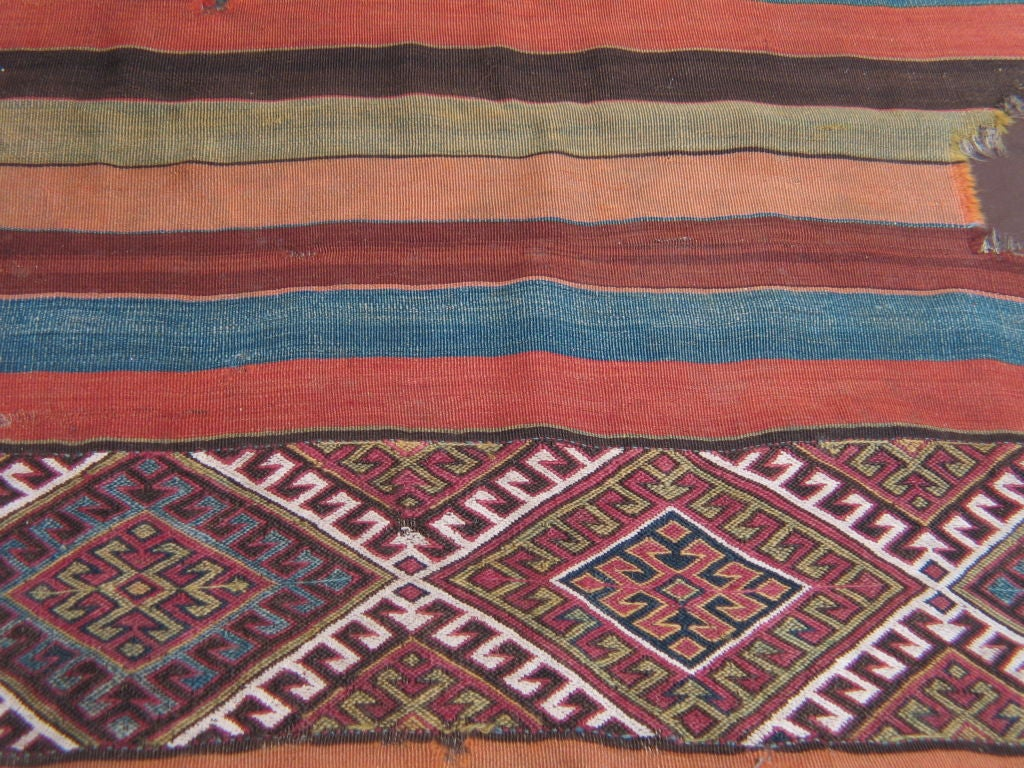 Antique Anatolian Kilim, Grain Sack In Good Condition For Sale In New York, NY