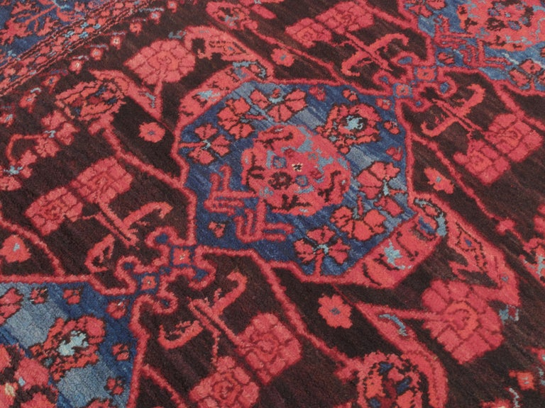 Hand-Knotted Antique Kula Long Rug For Sale