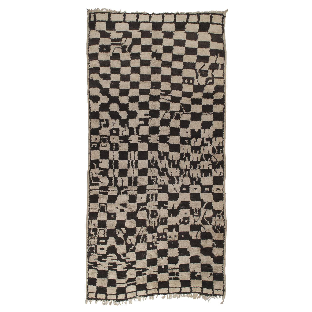 """Chessboard Boogie Woogie,"" Moroccan Berber Carpet For Sale"