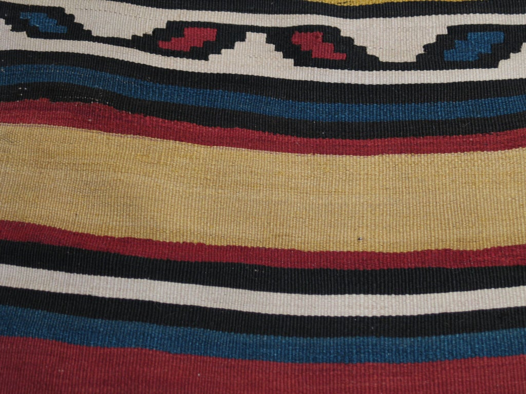Hand-Woven Antique Shahsavan Kilim Rug For Sale