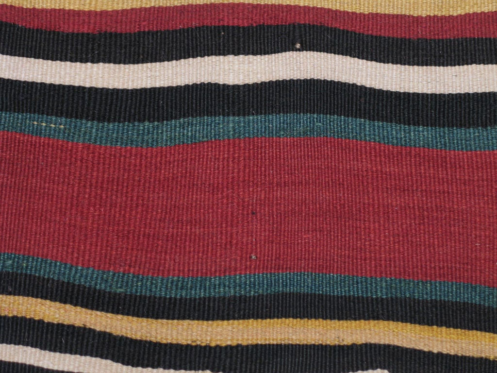 19th Century Antique Shahsavan Kilim Rug For Sale