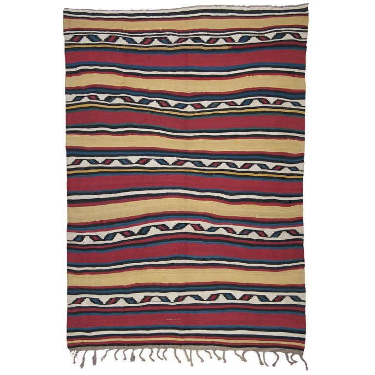 Antique Shahsavan Kilim Rug For Sale