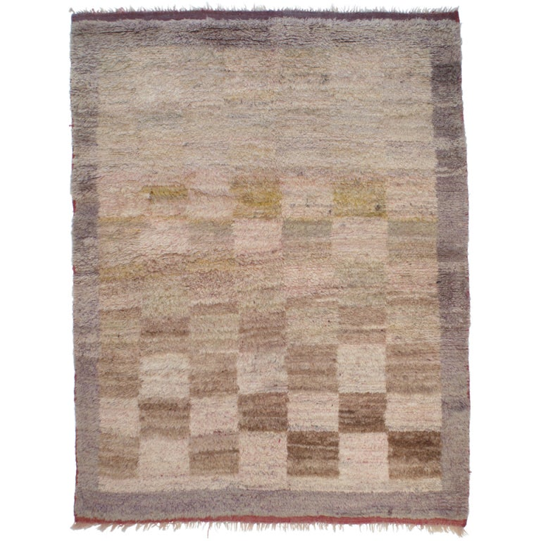 Checkered tulu rug at 1stdibs - Checkerboard area rug ...