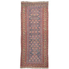 Antique Sumak Runner Rug