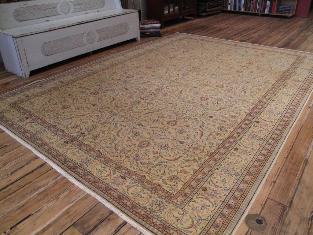 Kayseri carpet or rug. A beautiful, vintage Turkish carpet or rug with soft colors and classical design.