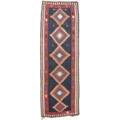 Antique Azeri Kilim Runner Rug