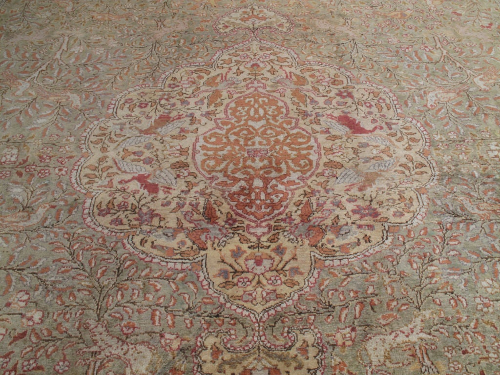 Cotton Kayseri Carpet At 1stdibs