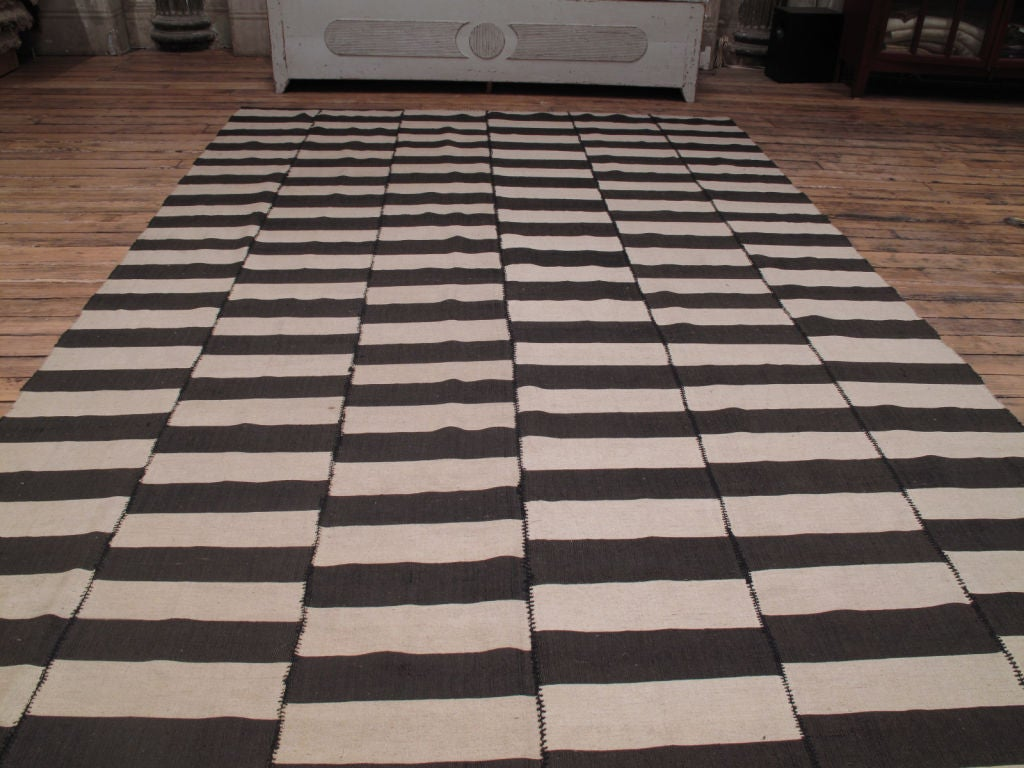 Persian Striped Kilim For Sale