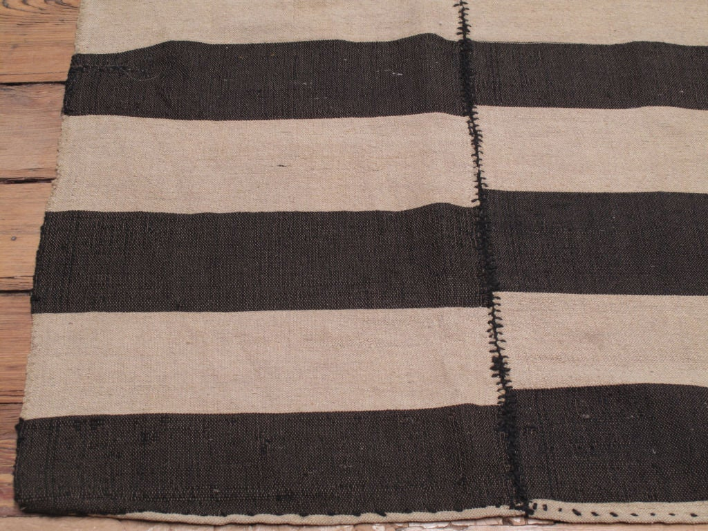 Hand-Woven Striped Kilim For Sale