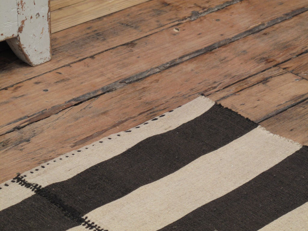 Wool Striped Kilim For Sale