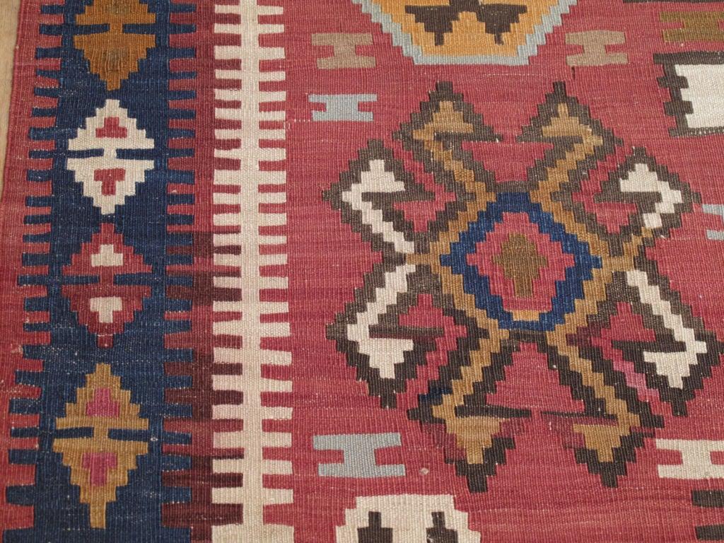 Wool Kuba Kilim Rug For Sale