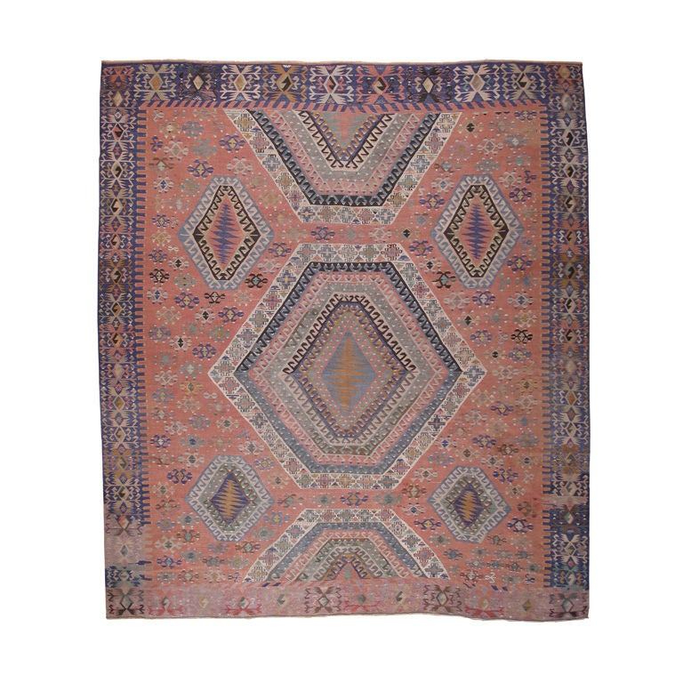 Large And Unusual Anatolian Kilim At 1stdibs