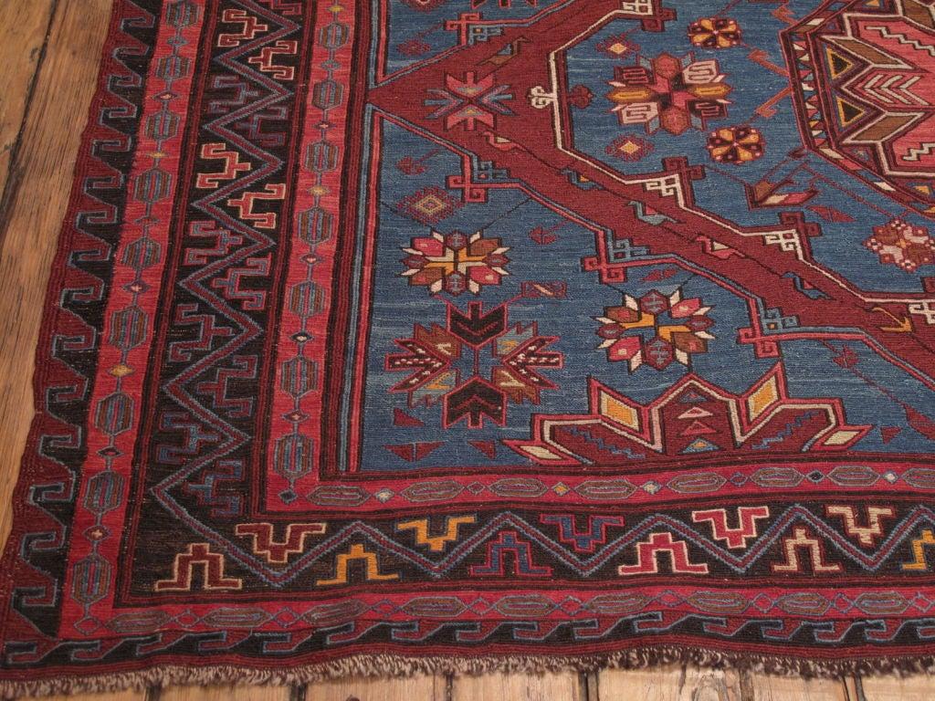 Hand-Woven Sumak Carpet For Sale