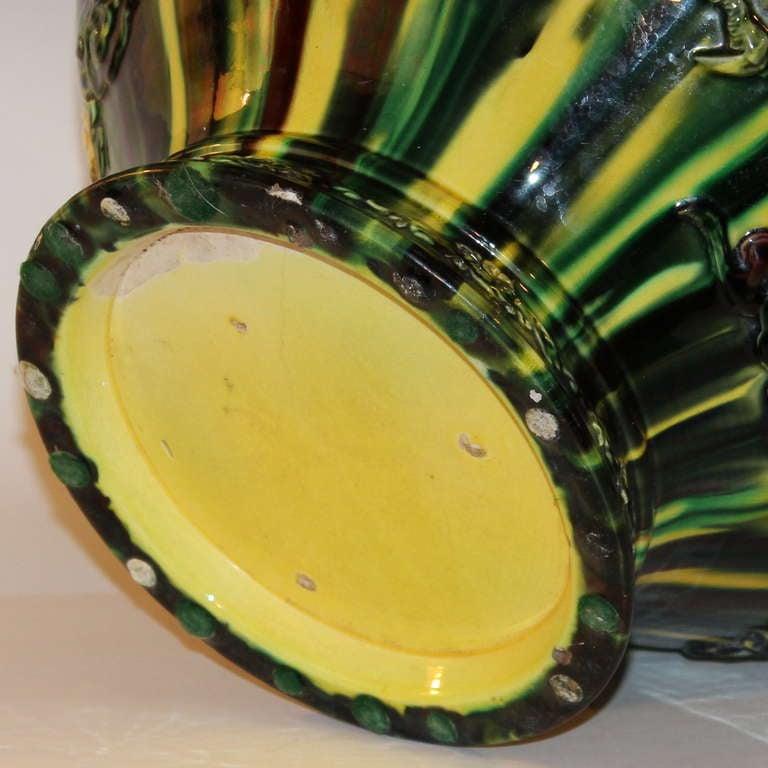 Awaji Pottery Flambe Jardiniere For Sale 1