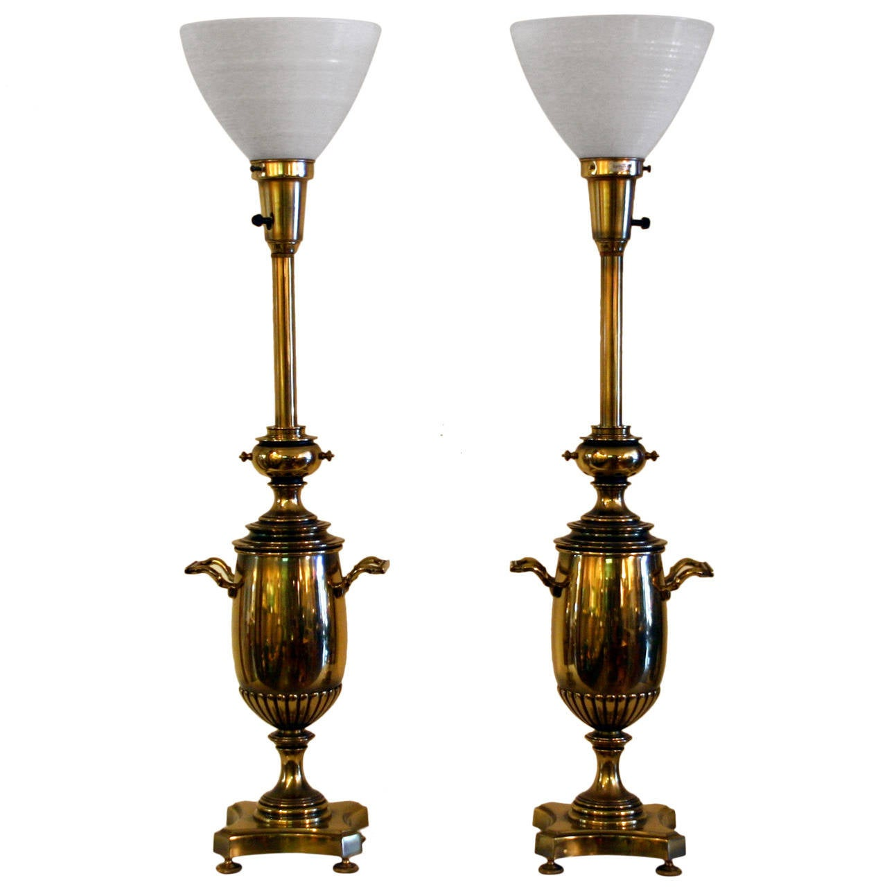 Vintage Stiffel Lamps >> Pair Vintage Brass Stiffel Lamps