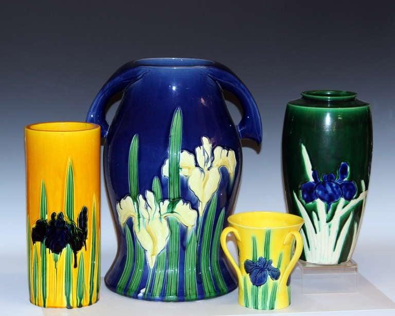 Kutani Vase With Irises For Sale At 1stdibs