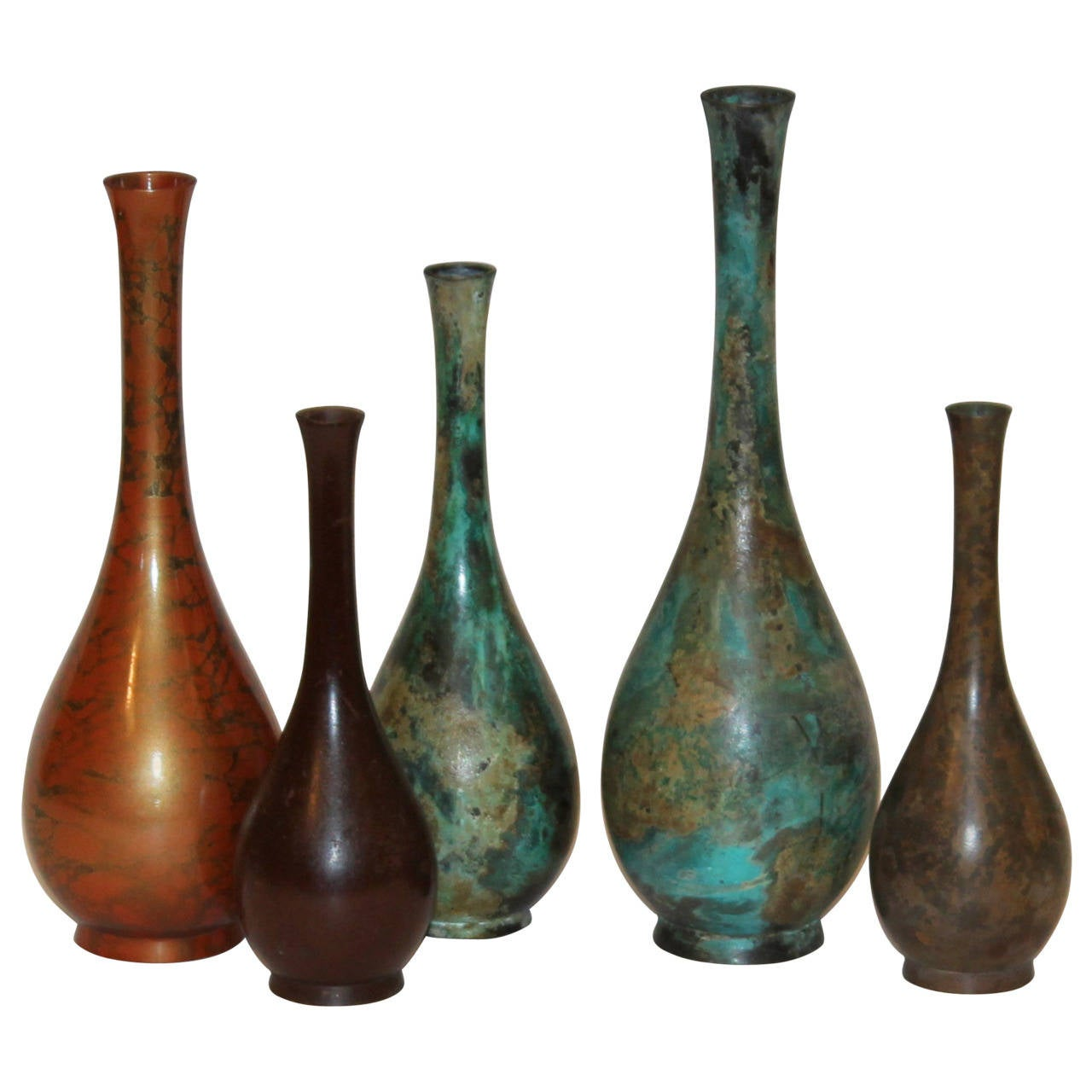 Collection vintage japanese patinated bronze long neck bottle collection vintage japanese patinated bronze long neck bottle vases for sale reviewsmspy