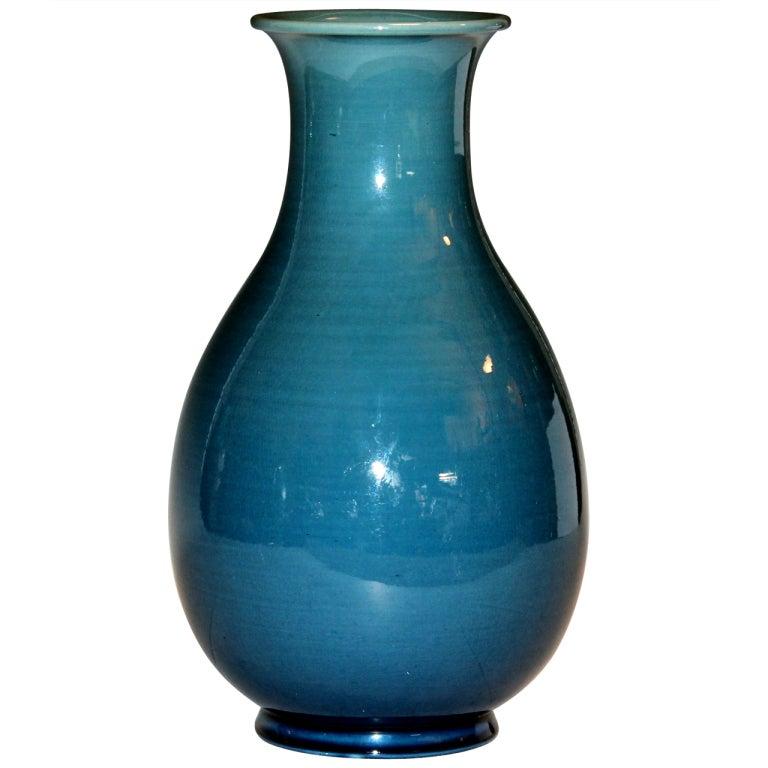 Awaji Pottery Monochrome Vase at 1stdibs