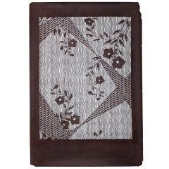 Large Antique Japanese Kimono Fabric Print Design Hand-Cut Stencil Katagami