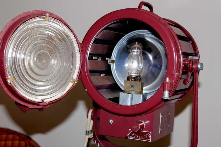Pair Vintage Industrial Stage Studio Spot Flood Lights Lamps Mole Richardson 407 6
