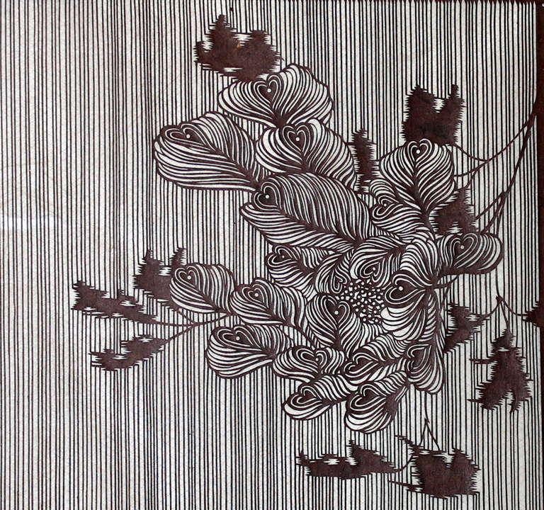 Antique Japanese Kimono Fabric Stencil Katagami At 1stdibs