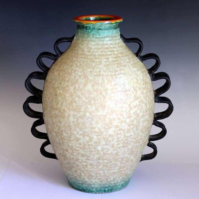 Vintage Italian Art Pottery Mid Century Modern Vase At 1stdibs