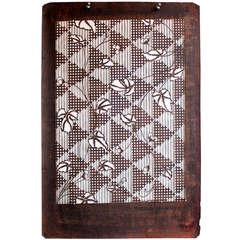 Antique Japanese Kimono Katagami Fabric Stencil