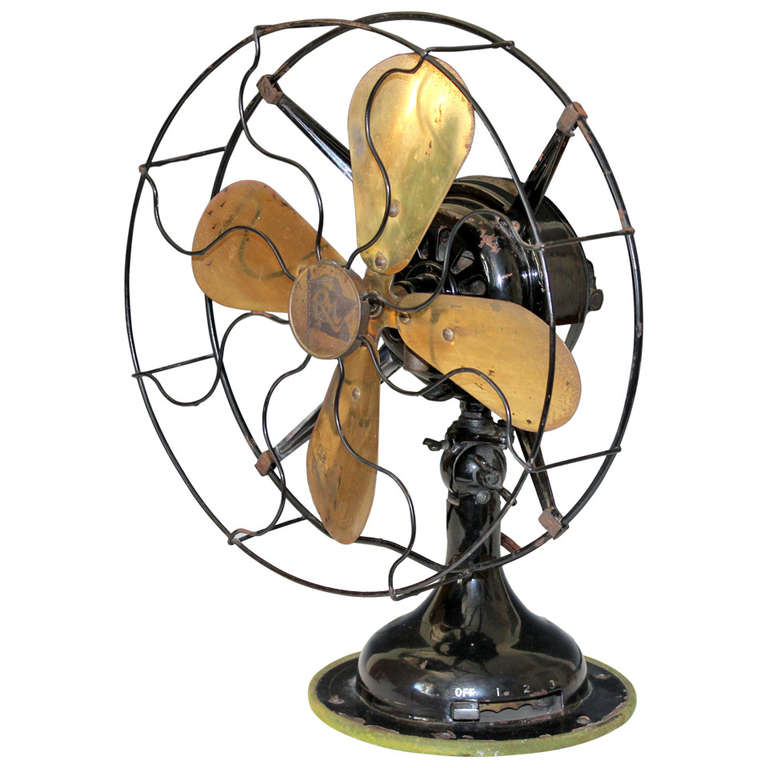 Antique Robbins And Myers 3 Speed Electric Fan At 1stdibs