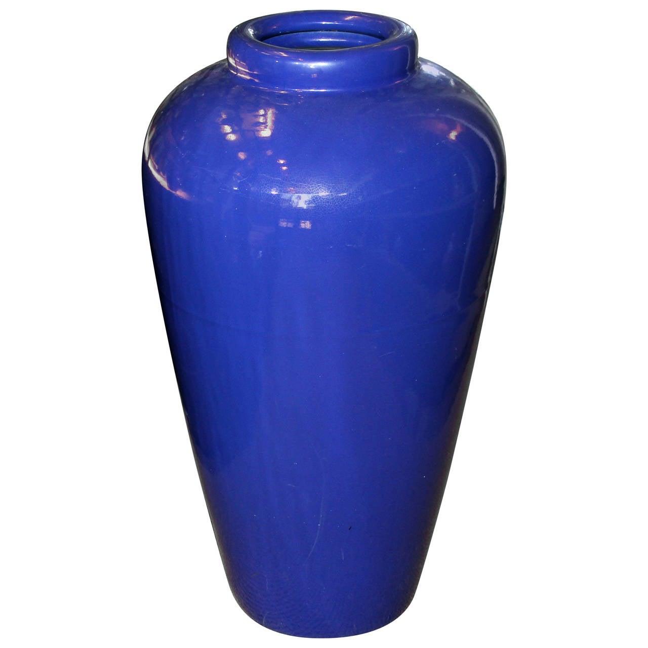 Large Vintage California Pacific Pottery Oil Jar Garden