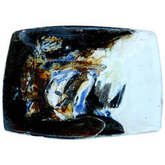 Vintage Midcentury Expressionist Pottery Tray