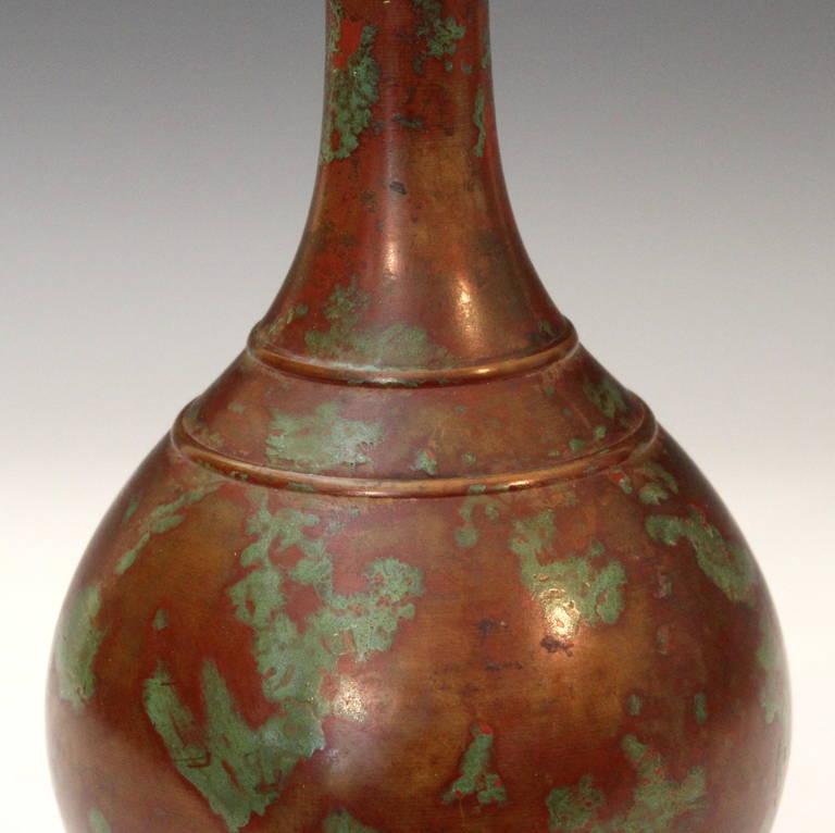 Antique Japanese Patinated Bronze Vase For Sale At 1stdibs