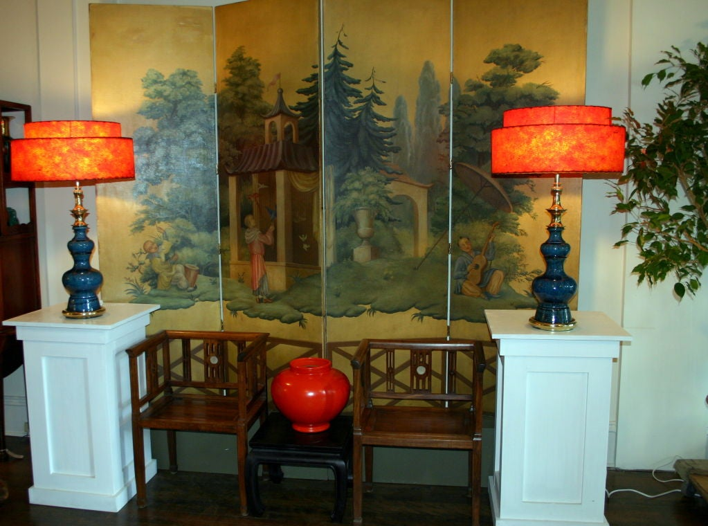 Pair of Vintage Stiffel Pottery Lamps For Sale 5