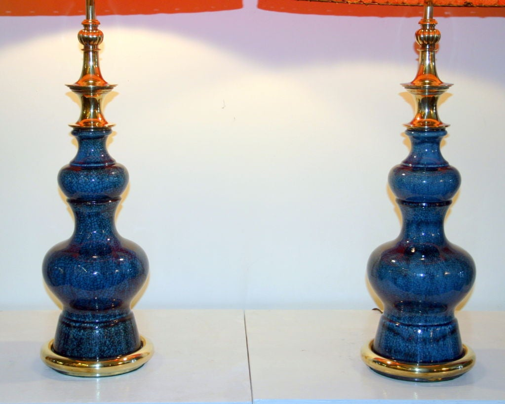 Pair of Vintage Stiffel Pottery Lamps For Sale 2