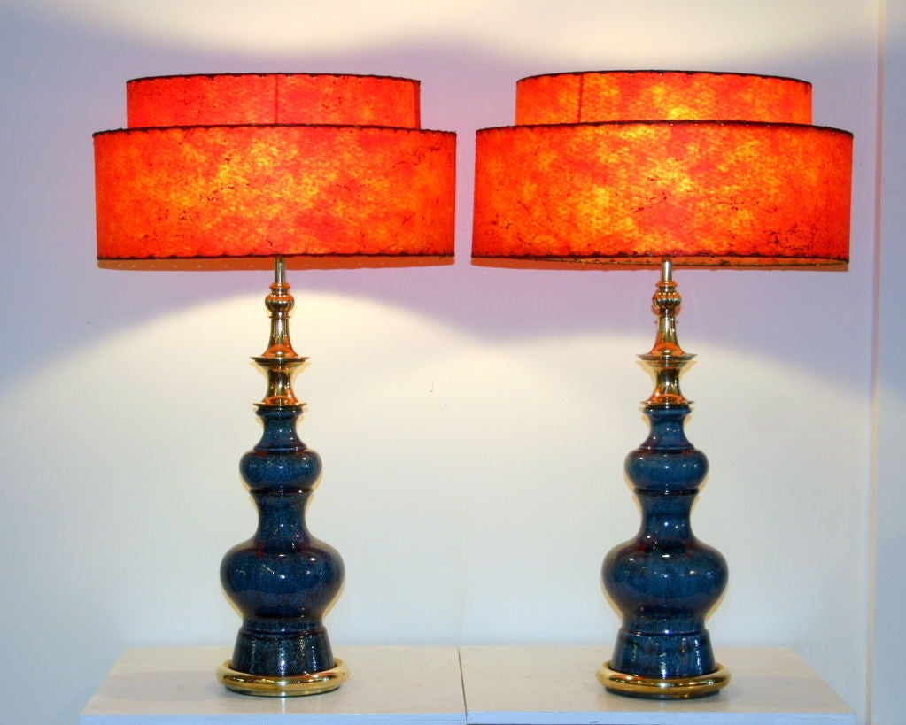 Pair of Vintage Stiffel Pottery Lamps For Sale 3