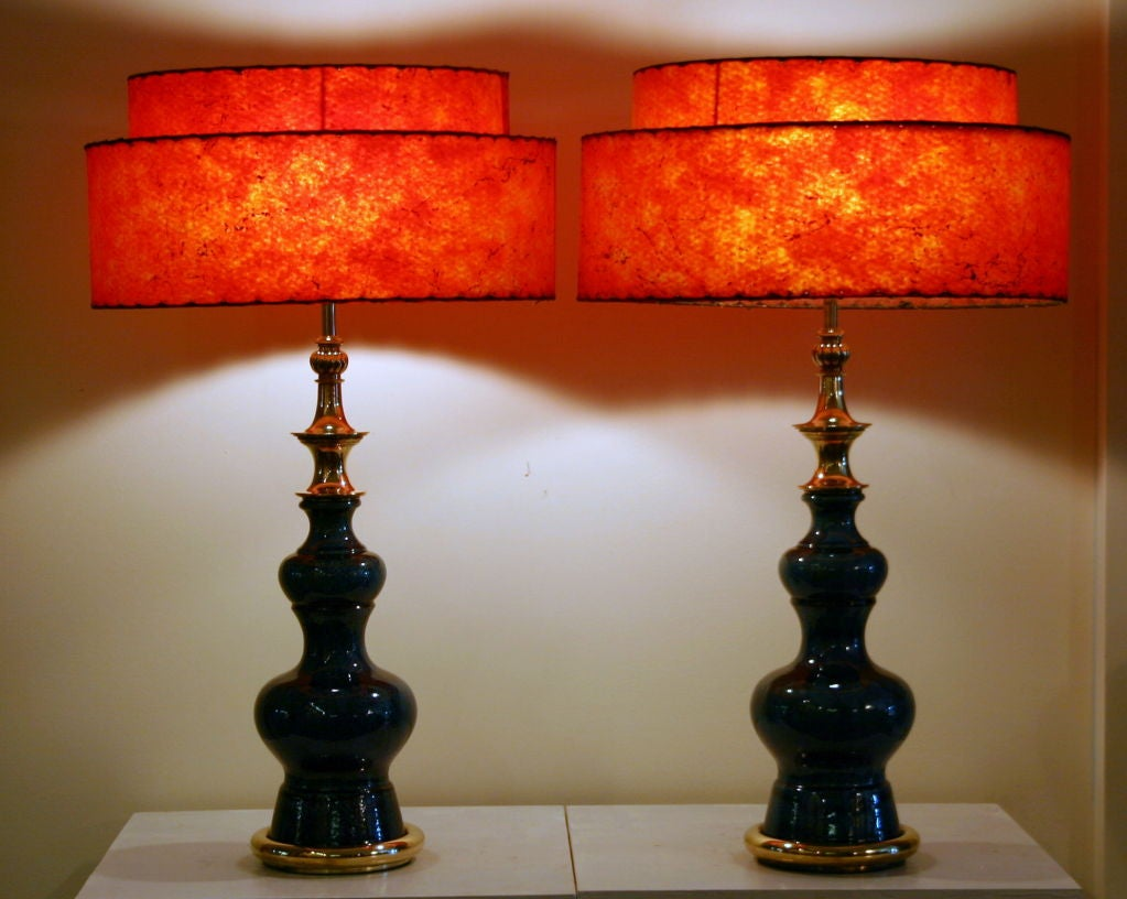 Pair of Vintage Stiffel Pottery Lamps For Sale 4
